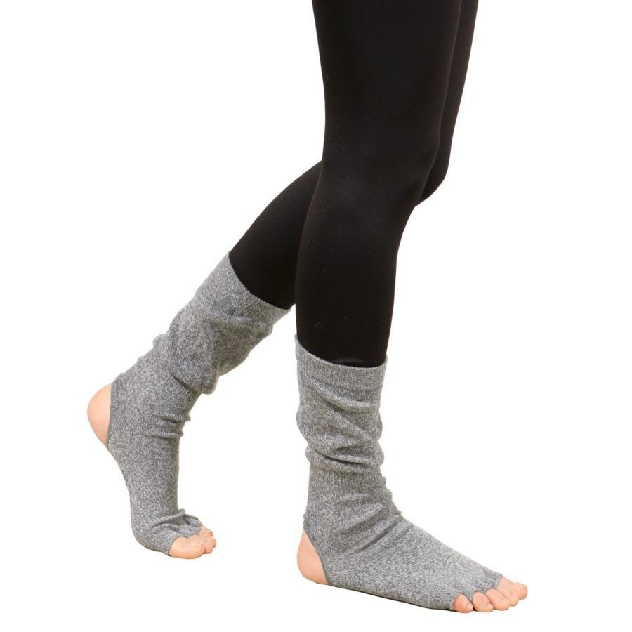 ヨガソックス 靴下 5本指 指なし 滑り止め 5本指 指なし健康ソックス レディース 冷え性対策 フィットネス 秋|panetone|15