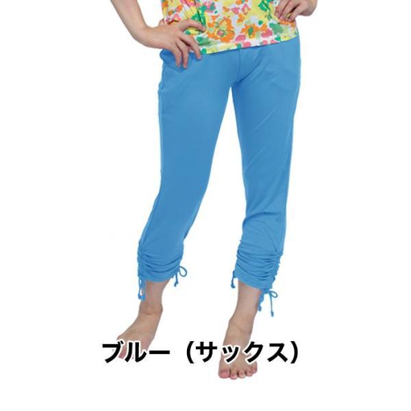 ヨガウェア ヨガパンツ ズンバウェア パンツ レディース ダンスパンツ 美脚 裾ひもシャーリングパンツ|panetone|09