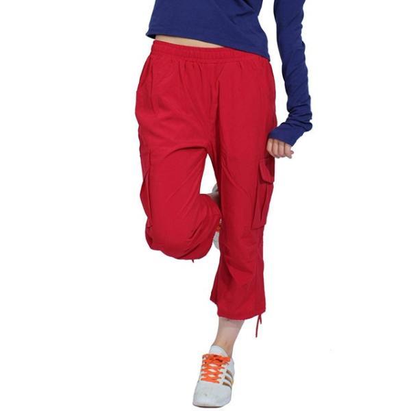 トレーニング トレーニングウェア ズンバウェア レディース 軽量 カプリパンツ ジョガーパンツ フィットネスウェア ダンス|panetone|30