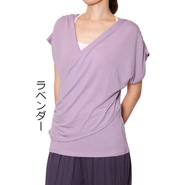 ヨガウエア レディス  ヨガウェア かわいい ヨガトップス カシュクール Tシャツ カットソー チュニック 無地|panetone|20