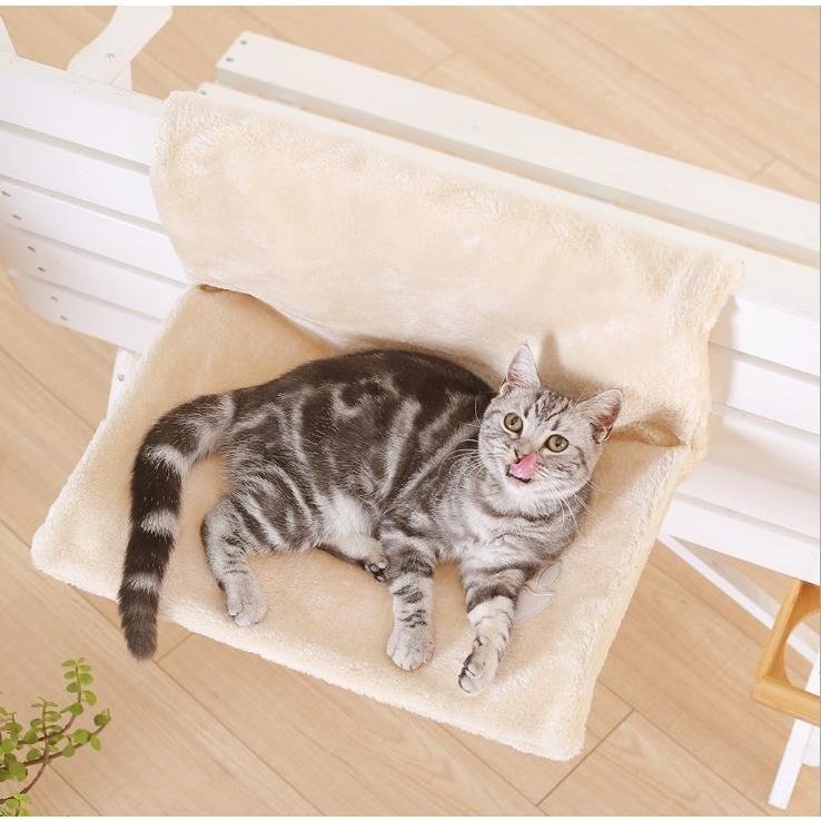 ペット ハンモック 猫 ねこ ネコ お昼寝 ベッド マット 手すりや椅子にワイヤーフックで引っかけるタイプ|panni123|08