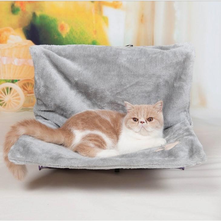 ペット ハンモック 猫 ねこ ネコ お昼寝 ベッド マット 手すりや椅子にワイヤーフックで引っかけるタイプ|panni123|09