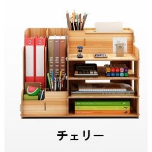 卓上 収納 ボックス レターケース 深型 A4サイズ 木製 卓上ラック 机上棚 組み立て式 多機能 ストレージ ペン立て 日本語説明書付き|panni2-shop|11