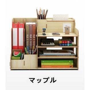 卓上 収納 ボックス レターケース 深型 A4サイズ 木製 卓上ラック 机上棚 組み立て式 多機能 ストレージ ペン立て 日本語説明書付き|panni2-shop|10