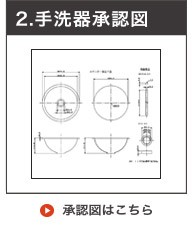 ステンレス丸型手洗器(ヘアライン仕上げ)承認図