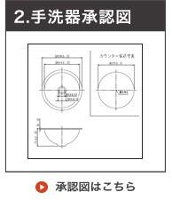 ホーロー小型手洗い器 承認図