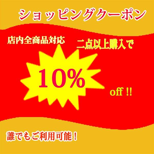 ストア内全品対象2点以上購入で10%OFFクーポン