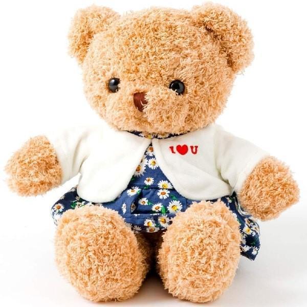 ぬいぐるみ テディベア くま ワンピース 花柄 可愛い ふわふわ 誕生日 35cm お洋服|patty|08