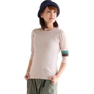 カットソー 7分袖 七分袖 袖配色ライン スリーブ2トーン ライン 配色 日本製 綿100% クルーネック メンズ レディース  KRIFF MAYER|PATY