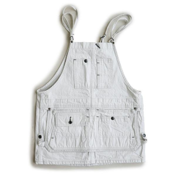 (ジョンブル) Johnbull デニム ミニサロペットスカート エプロン風ポケット ホワイトデニム  日本製  レディース|paty|07