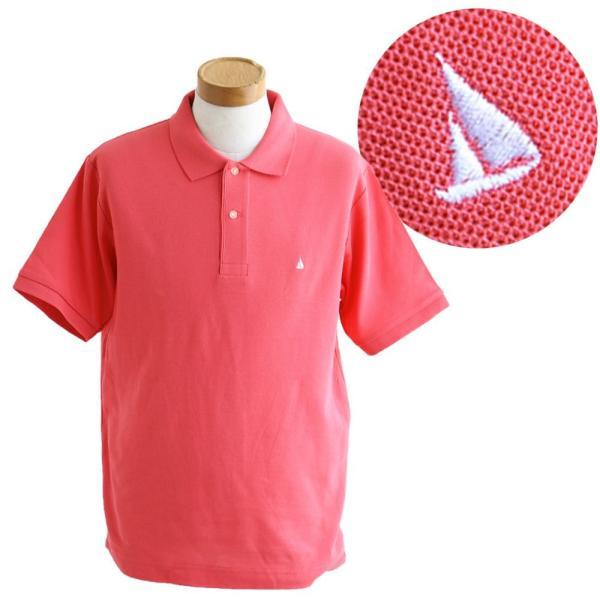 ポロシャツ 半袖 リブ衿 5.3オンス 吸汗 速乾 消臭テープ UV 紫外線 形状安定 刺繍 春 夏 SAIL レディース メンズ paty 16