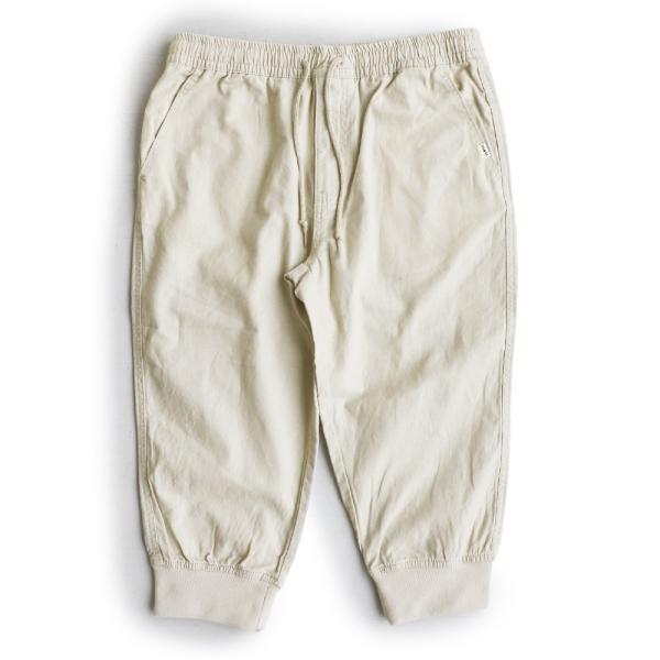 テーパード クロップドパンツ コットン リネン 裾リブ 切り替え ガゼットクロッチ製法 涼しい 夏 涼しい 大きめ レディース 春夏|paty|15