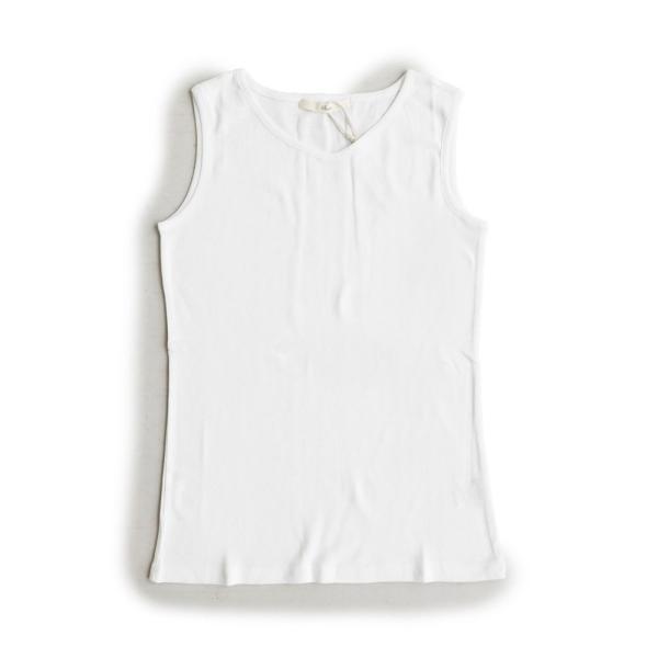 タンクトップ タンク 胸元 見えない カバーネック 綿100% 無地 ボーダー柄 レディース Souple paty 21