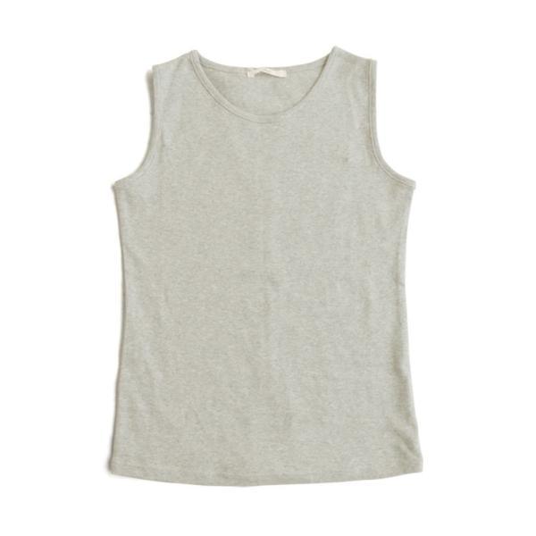 タンクトップ タンク 胸元 見えない カバーネック 綿100% 無地 ボーダー柄 レディース Souple paty 24