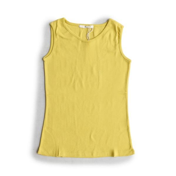 タンクトップ タンク 胸元 見えない カバーネック 綿100% 無地 ボーダー柄 レディース Souple paty 25