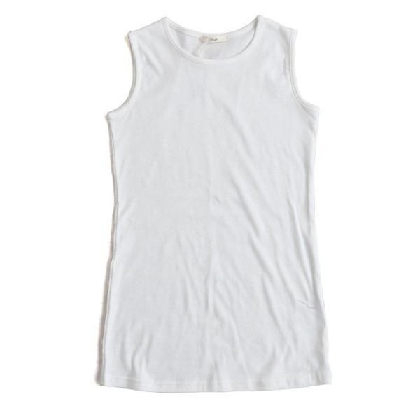 タンクトップ ロング丈 「胸元 が 見えない カバーネック」 綿100% レディース Souple paty 21