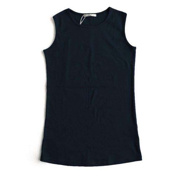 タンクトップ ロング丈 「胸元 が 見えない カバーネック」 綿100% レディース Souple paty 22