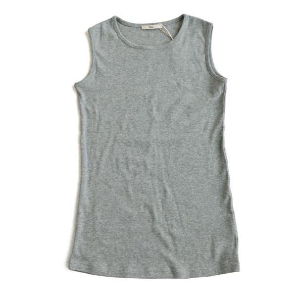 タンクトップ ロング丈 「胸元 が 見えない カバーネック」 綿100% レディース Souple paty 23