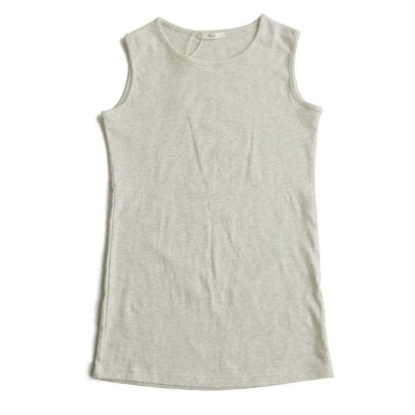 タンクトップ ロング丈 「胸元 が 見えない カバーネック」 綿100% レディース Souple paty 24