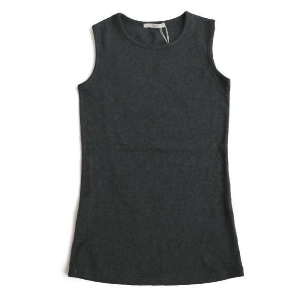 タンクトップ ロング丈 「胸元 が 見えない カバーネック」 綿100% レディース Souple paty 26