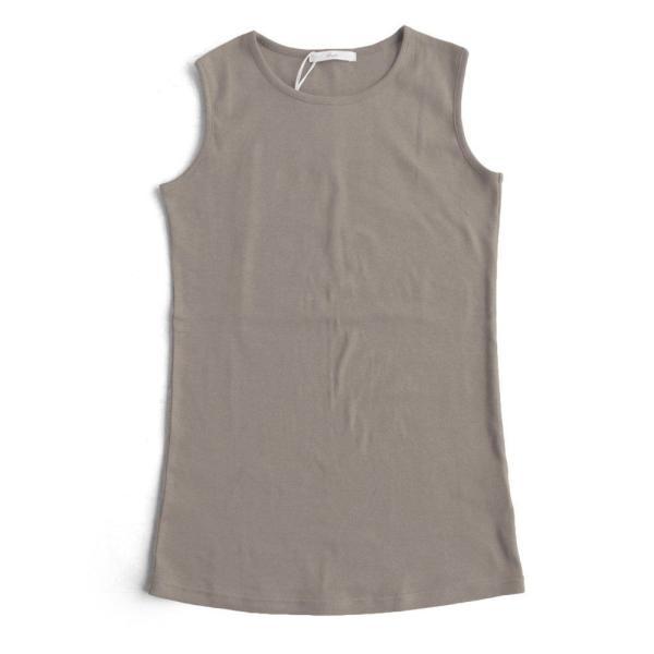 タンクトップ ロング丈 「胸元 が 見えない カバーネック」 綿100% レディース Souple paty 31