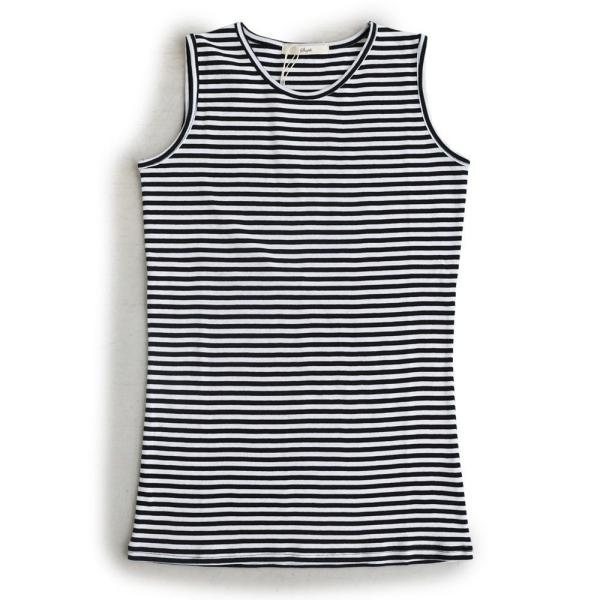 タンクトップ ロング丈 「胸元 が 見えない カバーネック」 綿100% レディース Souple paty 35