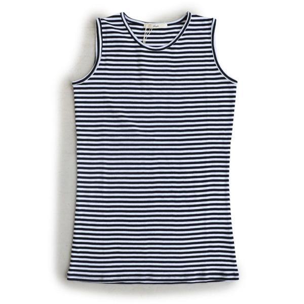 タンクトップ ロング丈 「胸元 が 見えない カバーネック」 綿100% レディース Souple paty 36