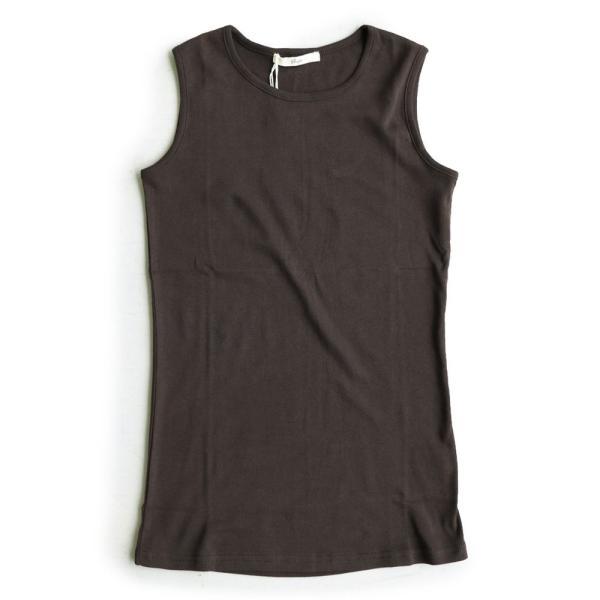 タンクトップ ロング丈 「胸元 が 見えない カバーネック」 綿100% レディース Souple paty 39