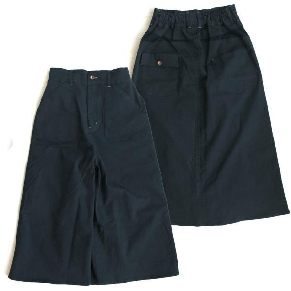 ガウチョパンツ スカーチョ ワイドパンツ マキシスカート風 ウエストゴム ストレッチ入り 大きいサイズ|paty|23