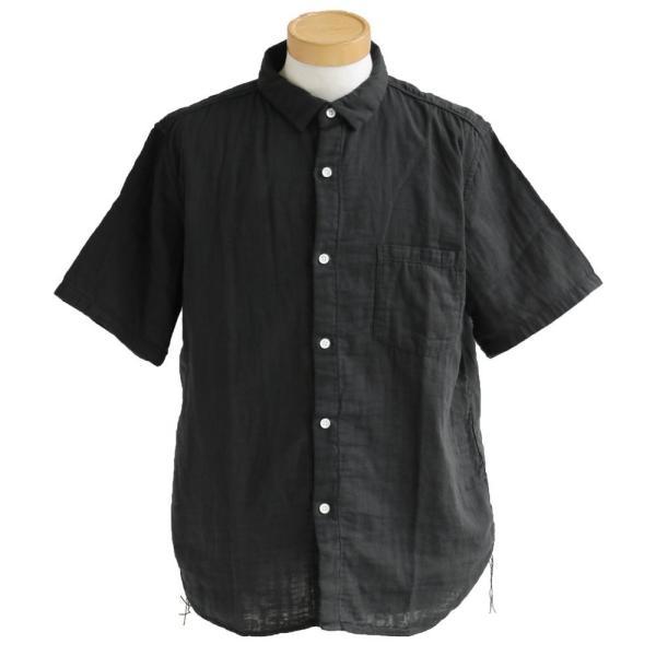 半袖シャツ シャツ 半袖 ダブルガーゼ レギュラーシャツ 通気性 メンズライク  (ティグルブロカンテ) TIGRE BROCANTE 40代 50代|paty|08