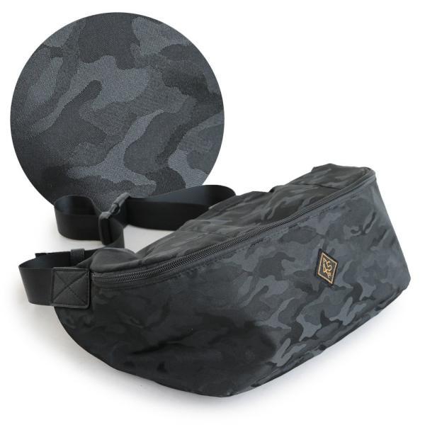 バッグ ボディバッグ 「撥水加工 軽量 ナイロン」 シャドーカモフラ柄 クッションパッド メッシュ (オールズ) OAR'S  レディース メンズ paty 21