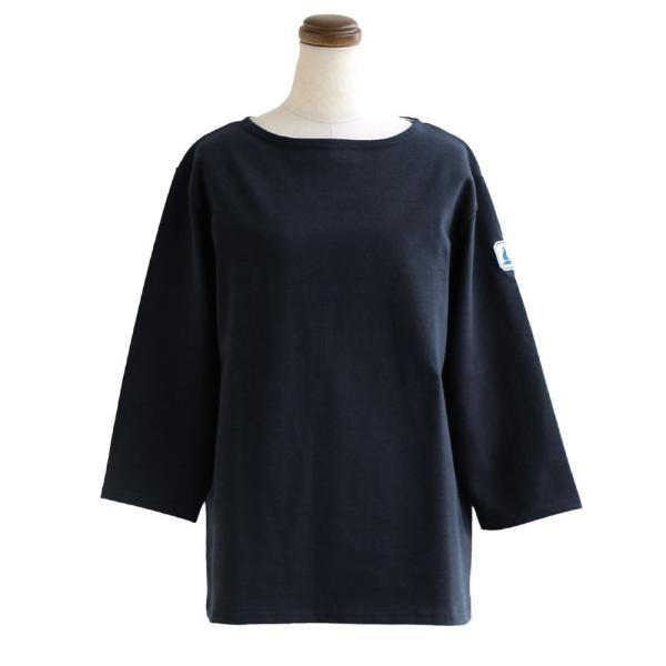 7分袖 カットソー  綿100% バスクシャツ ボートネック 日本製 コットン 無地  レディース SAIL|paty|21