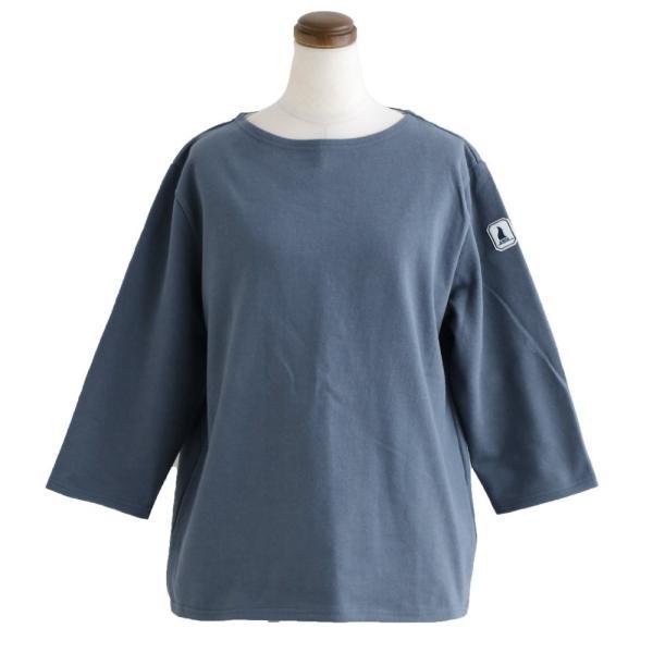 7分袖 カットソー  綿100% バスクシャツ ボートネック 日本製 コットン 無地  レディース SAIL|paty|24