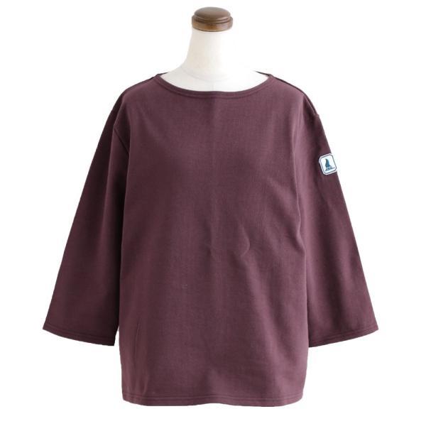 7分袖 カットソー  綿100% バスクシャツ ボートネック 日本製 コットン 無地  レディース SAIL|paty|26