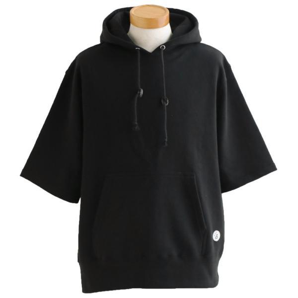 五分袖 5分袖 パーカー プルオーバー プルパーカー 「肉厚 米綿 裏毛 スウェット」 ブタバナ (セイル) SAIL|paty|20