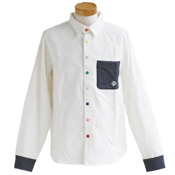 シャツ 長袖 スナップボタン バンドカラー レギュラーカラー 2WAY ポケット切り替え(ジムマスター) gymmaster 40代 50代|paty|10