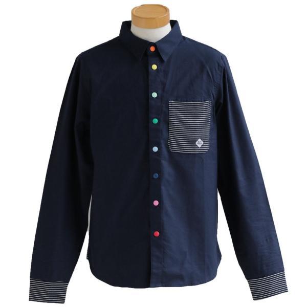 シャツ 長袖 スナップボタン バンドカラー レギュラーカラー 2WAY ポケット切り替え(ジムマスター) gymmaster 40代 50代|paty|11