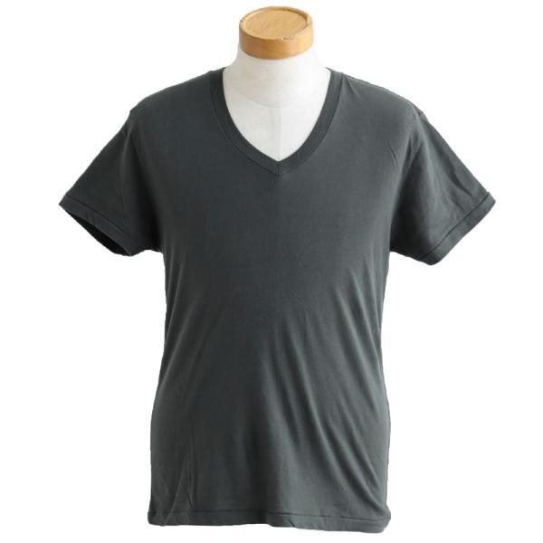 半袖TEE Tシャツ 半袖  レディース メンズ Vネック 天竺 コットン100% 無地 インナー タイト Vanilla fudge 春夏 おしゃれ|paty|08