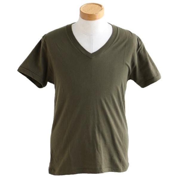 半袖TEE Tシャツ 半袖  レディース メンズ Vネック 天竺 コットン100% 無地 インナー タイト Vanilla fudge 春夏 おしゃれ|paty|09
