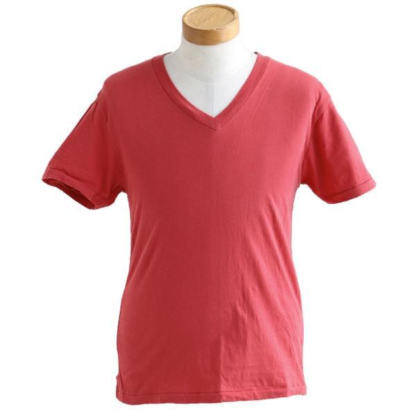 半袖TEE Tシャツ 半袖  レディース メンズ Vネック 天竺 コットン100% 無地 インナー タイト Vanilla fudge 春夏 おしゃれ|paty|15