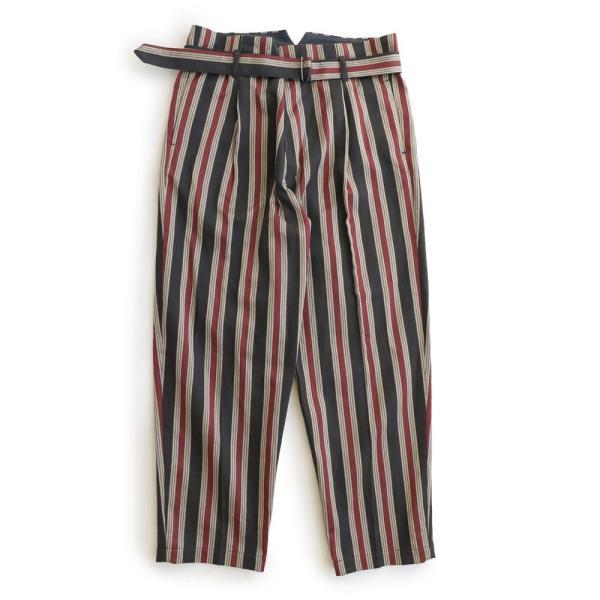 イージーパンツ パンツ スラックス ストライプ テーパード ベルト付き オリエンタル Johnbull レディース メンズ paty 08
