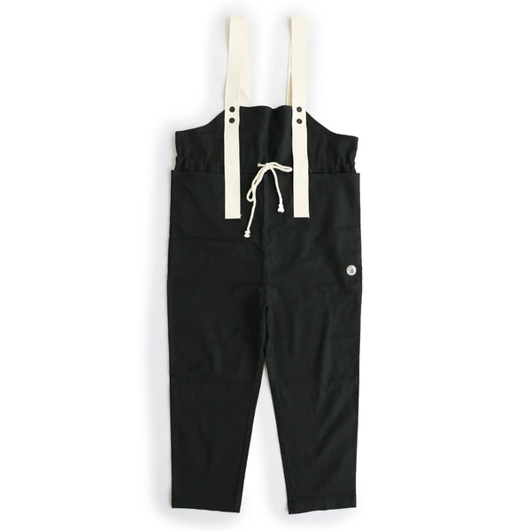 サロペット  パンツ 「ガーデン ポケット」 グログランストラップ 綿麻 プリペラ ストレッチ レディース SAIL|paty|09