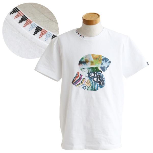 Tシャツ 半袖 カットソー クルーネック  ES 星 スター プリント  綿100% 米綿 BLUETO レディース メンズ 春夏 おしゃれ|paty|13