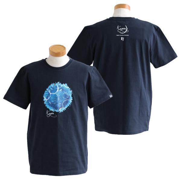 Tシャツ 半袖 クルーネック  kagero 陽炎 プリント  綿100% 米綿 BLUETO レディース メンズ 春夏 おしゃれ(重ね着企画)|paty|09