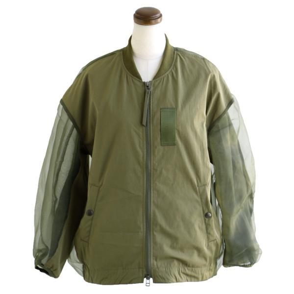 MA-1 ジャケット ミリタリージャケット シースルー 切替 ボリュームシルエット Johnbull レディース|paty|08