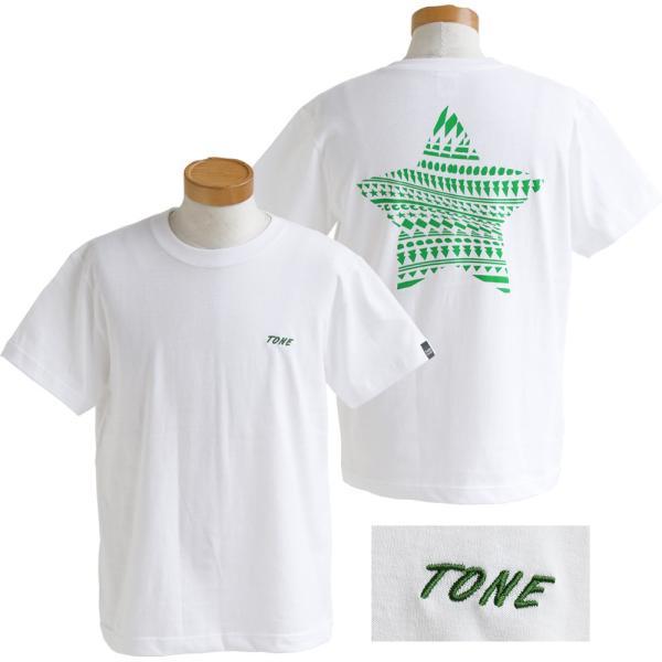 Tシャツ 半袖  メンズ クルーネック 配色 ノルディック 星 スター バック プリント レディース TOneontoNE おしゃれ|paty|09