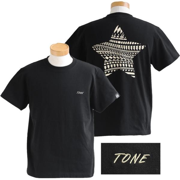 Tシャツ 半袖  メンズ クルーネック 配色 ノルディック 星 スター バック プリント レディース TOneontoNE おしゃれ|paty|10