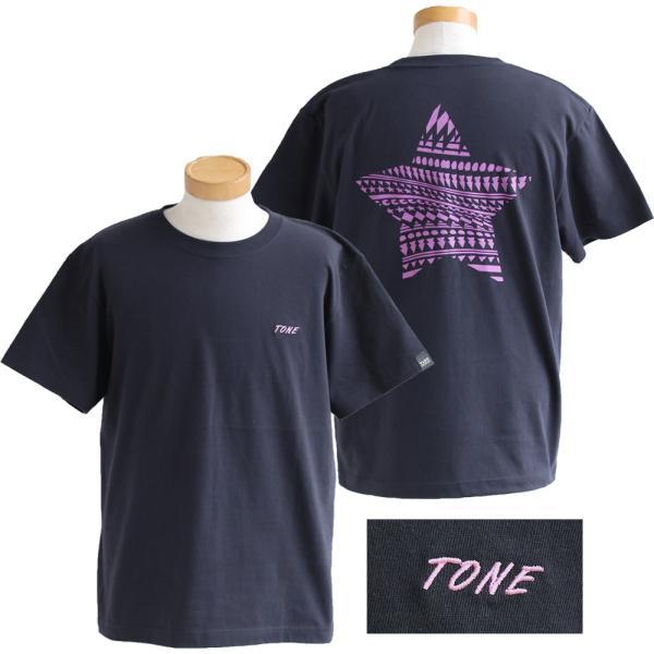 Tシャツ 半袖  メンズ クルーネック 配色 ノルディック 星 スター バック プリント レディース TOneontoNE おしゃれ|paty|11