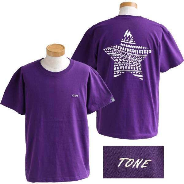 Tシャツ 半袖  メンズ クルーネック 配色 ノルディック 星 スター バック プリント レディース TOneontoNE おしゃれ|paty|15