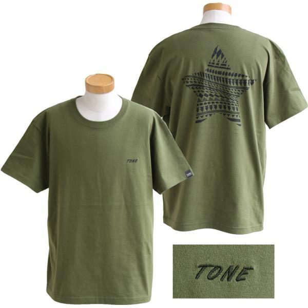 Tシャツ 半袖  メンズ クルーネック 配色 ノルディック 星 スター バック プリント レディース TOneontoNE おしゃれ|paty|16